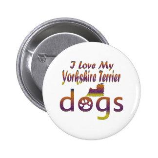yorkshire Terrier designs Button