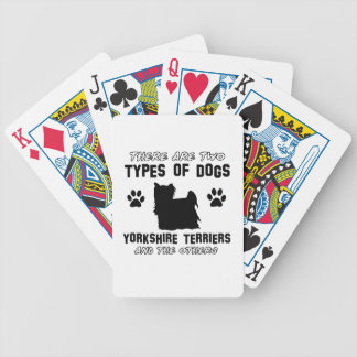 Yorkshire Terrier dog breed designs Playing Cards