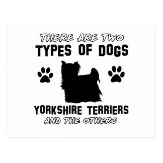 Yorkshire Terrier dog breed designs Postcard