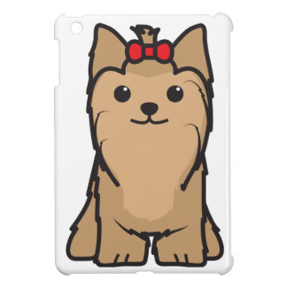 Yorkshire Terrier Dog Cartoon iPad Mini Cover