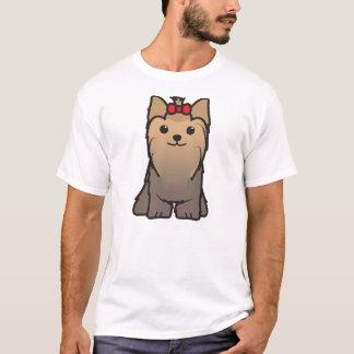 Yorkshire Terrier Dog Cartoon T-Shirt
