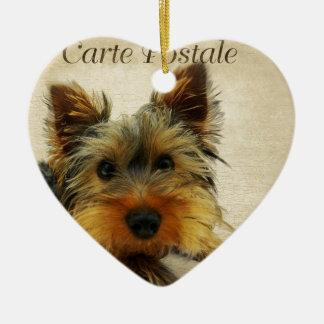 Yorkshire Terrier Dog Ceramic Ornament