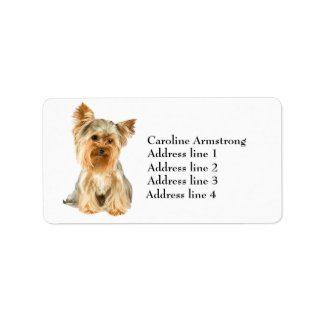 Yorkshire Terrier dog custom address labels