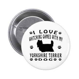 Yorkshire Terrier Dog design Buttons