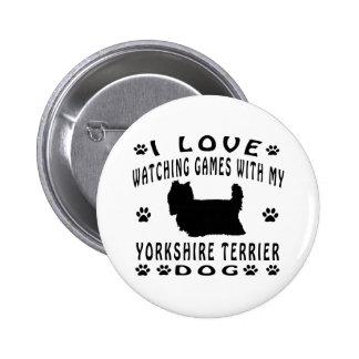 Yorkshire Terrier Dog design Buttons