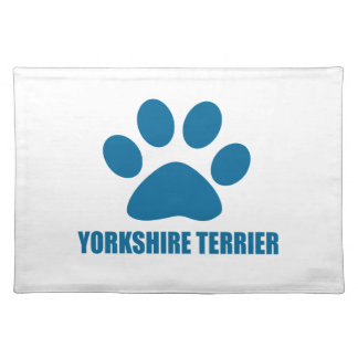 YORKSHIRE TERRIER DOG DESIGNS PLACEMAT