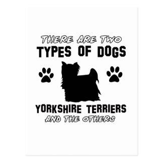 Yorkshire terrier dog Designs Postcard