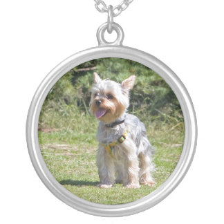 Yorkshire Terrier dog necklace, pendant, gift idea Round Pendant Necklace