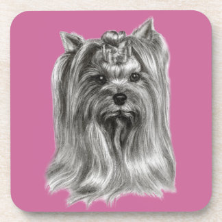 Yorkshire Terrier Drawing Drink Coasters