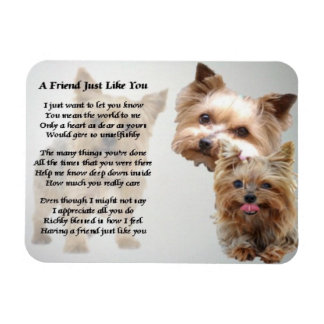 Yorkshire Terrier Friend Poem Magnet