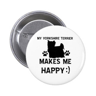 Yorkshire Terrier gift items Pinback Buttons