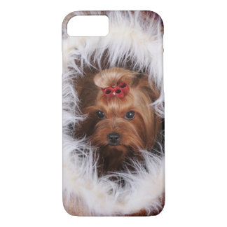 Yorkshire terrier in fur house iPhone 7 case