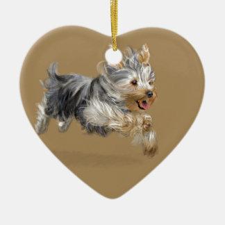 "Yorkshire Terrier ""Joy"" Ceramic Ornament"