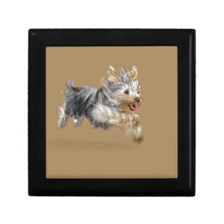 """Yorkshire Terrier """"Joy"""" Small Square Gift Box"""