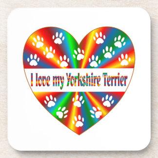 Yorkshire Terrier Love Coaster
