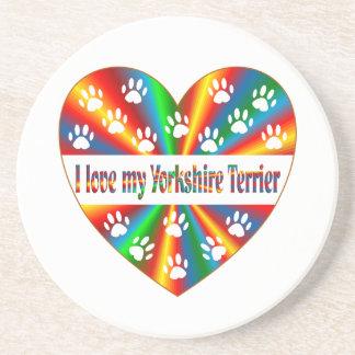 Yorkshire Terrier Love Drink Coasters