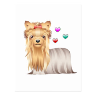Yorkshire Terrier Love Postcard