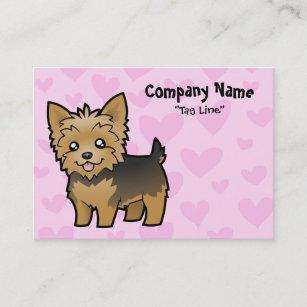 Hair bow business cards zazzle au yorkshire terrier love short hair no bow business card reheart Choice Image