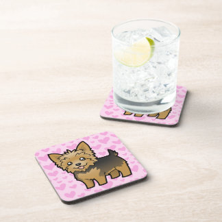 Yorkshire Terrier Love (short hair no bow) Drink Coasters