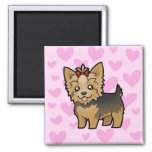 Yorkshire Terrier Love (short hair with bow)