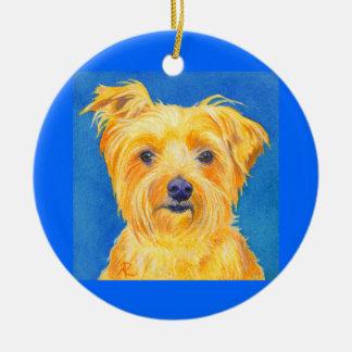 "Yorkshire Terrier Ornament #2 - ""Sammy"""