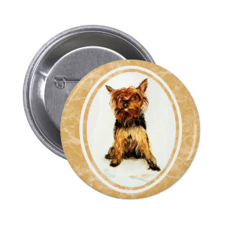 Yorkshire Terrier Painting Button