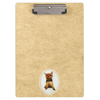 Yorkshire Terrier Painting Clipboards