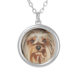 Yorkshire Terrier Painting Necklace