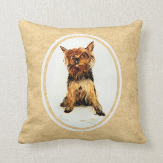 Yorkshire Terrier Painting Pillow