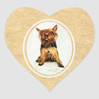 Yorkshire Terrier Painting Stickers