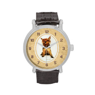 Yorkshire Terrier Painting Wristwatches