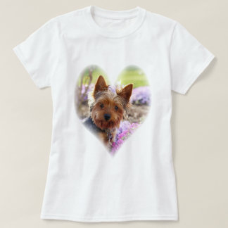 Yorkshire Terrier  photo custom womens t-shirt