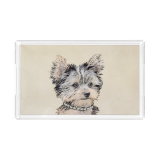 Yorkshire Terrier Puppy Acrylic Tray
