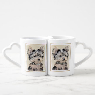Yorkshire Terrier Puppy Coffee Mug Set