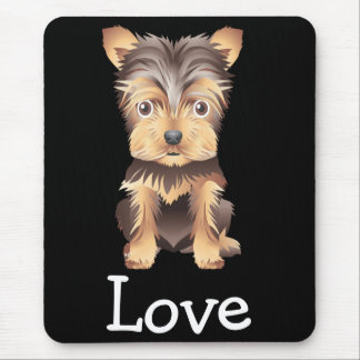 Yorkshire Terrier Puppy Dog Black Mouse Pad