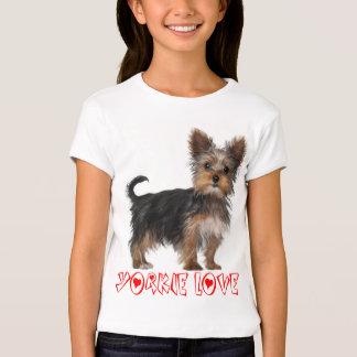 Yorkshire Terrier Puppy Dog Girls Tee Shirt