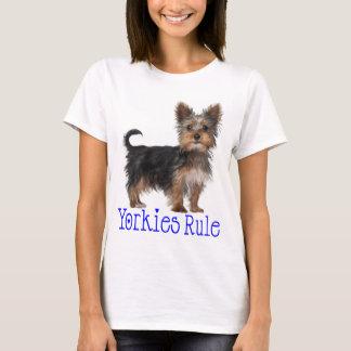 Yorkshire Terrier Puppy Dog Yorkies Rule Women's T-Shirt