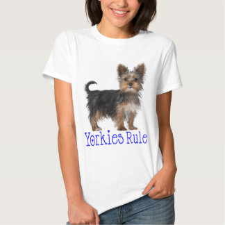 Yorkshire Terrier Puppy Dog Yorkies Rule Women's Tee Shirts