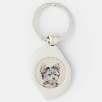 Yorkshire Terrier Puppy Key Ring