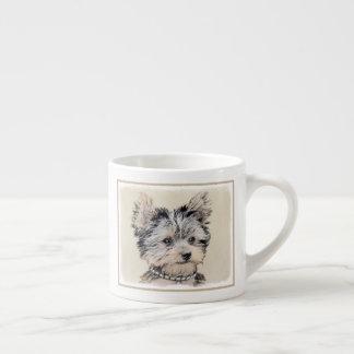 Yorkshire Terrier Puppy Painting Original Dog Art Espresso Cup