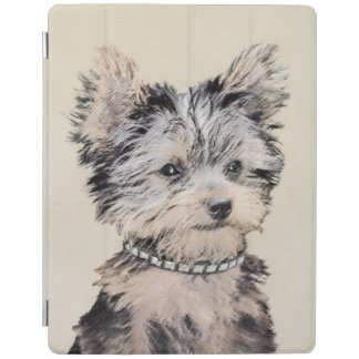 Yorkshire Terrier Puppy Painting Original Dog Art iPad Cover