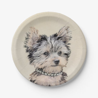 Yorkshire Terrier Puppy Paper Plate