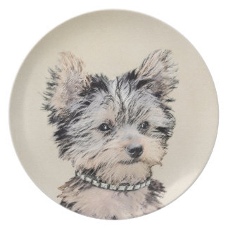 Yorkshire Terrier Puppy Plate