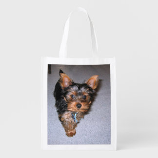 yorkshire terrier puppy.png reusable grocery bag