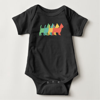 Yorkshire Terrier Retro Pop Art Baby Bodysuit
