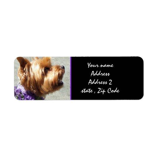 Yorkshire terrier return address label