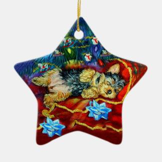Yorkshire Terrier Star Ornament