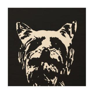 "Yorkshire Terrier Stencil Wood 12""x12"" Wall Art"