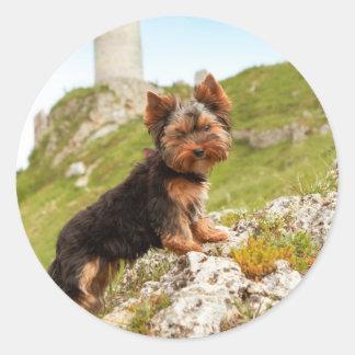 Yorkshire Terrier Round Sticker