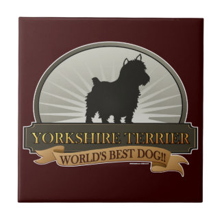 Yorkshire Terrier Small Square Tile
